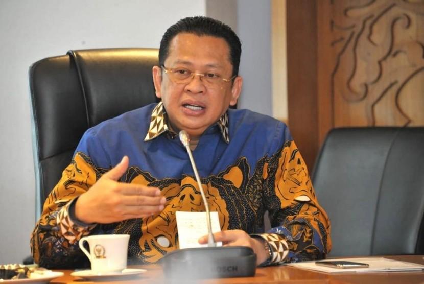 Pandangan Pimpinan MPR RI Atas Sejumlah Isu Aktual Saat ini. Ketua  MPR RI Bambang Soesatyo.