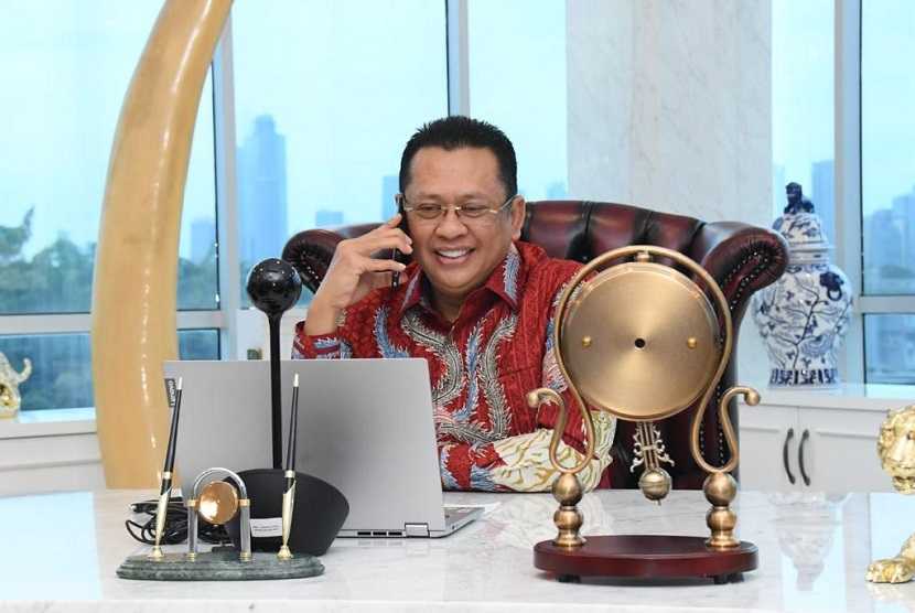 Ketua Majelis Permusyawaratan Rakyat (MPR), Bambang Soesatyo bertelepon dengan Ketua Parlemen Turki, Mustafa Sentop.