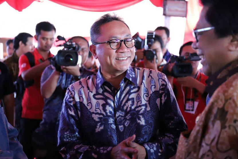 Ketua MPR RI Zulkifli Hasan di puncak Hari Pers Nasional 2018.