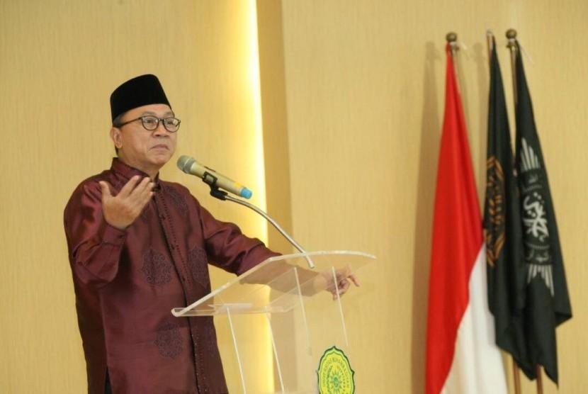 Ketua MPR RI, Zulkifli Hasan, menghadiri Penutupan Pengkajian Ramadhan 1438 yang diselenggarakan Pimpinan Pusat Muhammadiyah di Fakultas Kedokteran Universitas Muhammadiyah Jakarta, Rabu (7/6).