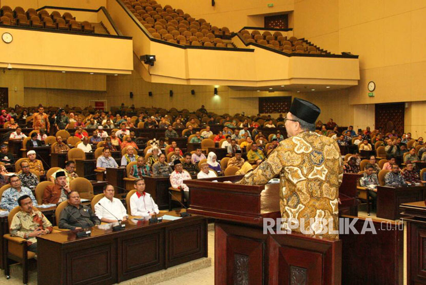 Ketua MPR RI Zulkilfi Hasan menjadi Pembicara Kunci dalam Forum pengurus dan anggota Komunikasi Nasional Percepatan Pembentukan Calon Daerah Otonomi Baru Seluruh Indonesia  (Forum Komunikasi DOB), di Kompleks Parlemen, Senayan, Jakarta, Jumat (2/6).