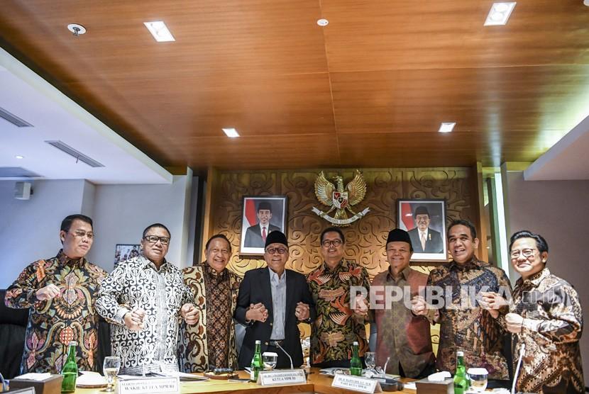 Ilustrasi pimpinan MPR periode 2014-2019.