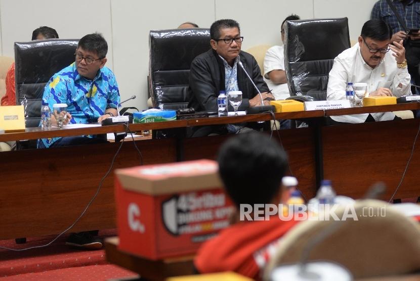 Wakil Ketua Pansus Hak Angket KPK Eddy Kusuma Wijaya (Kanan)