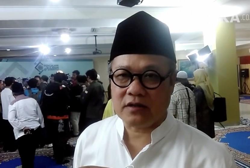 Ketua PP Muhammadiyah Bidang Kebencanaan, Pemberdayaan masyaraat dan LazisMU Hajriyanto Y. Thohari