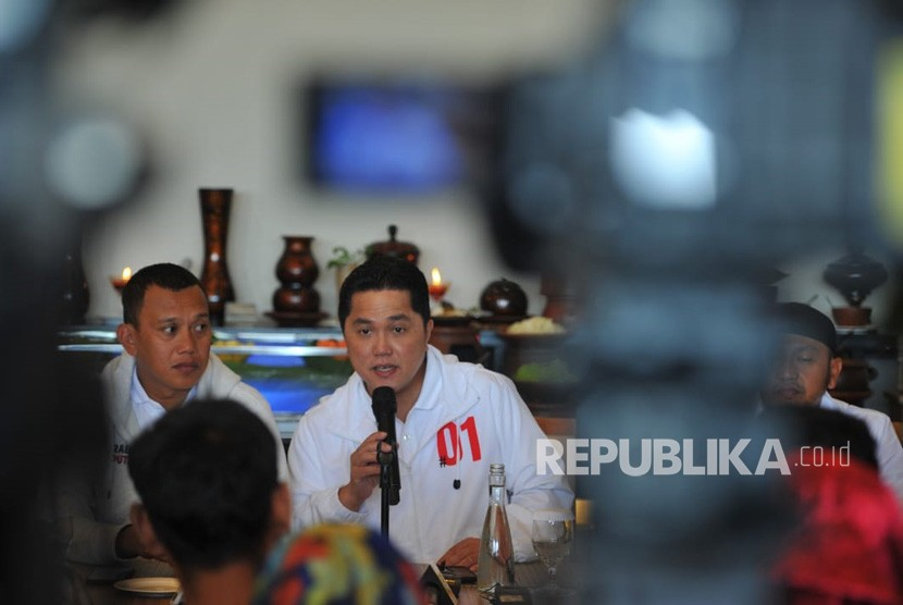Chairman of President Joko Widodo (Jokowi) - Ma'ruf Amin national campaign team (TKN) Erick Thohir.