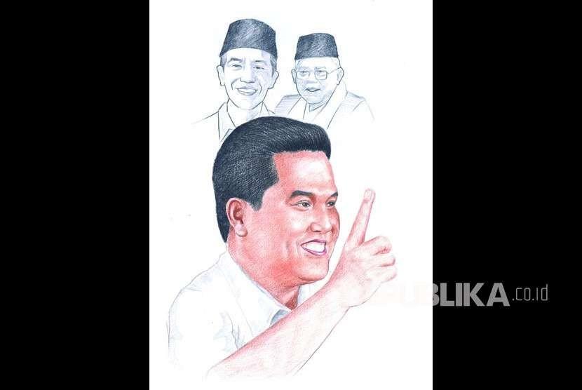 Ketua Tim Kampanye Nasional (TKN) Jokowi-Ma'ruf Amin Erick Thohir