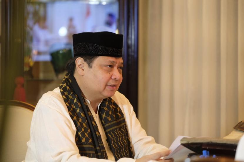 Ketua Umum DPP Partai Golkar yang juga Menteri Koordinator Bidang Perekonomian Airlangga Hartarto.