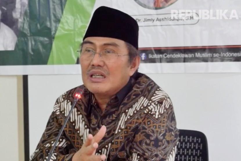 Ketua Umum ICMI Prof Jimly Asshiddiqie