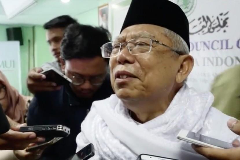 Ketua Umum Majelis Ulama (MUI) Ma'aruf Amin