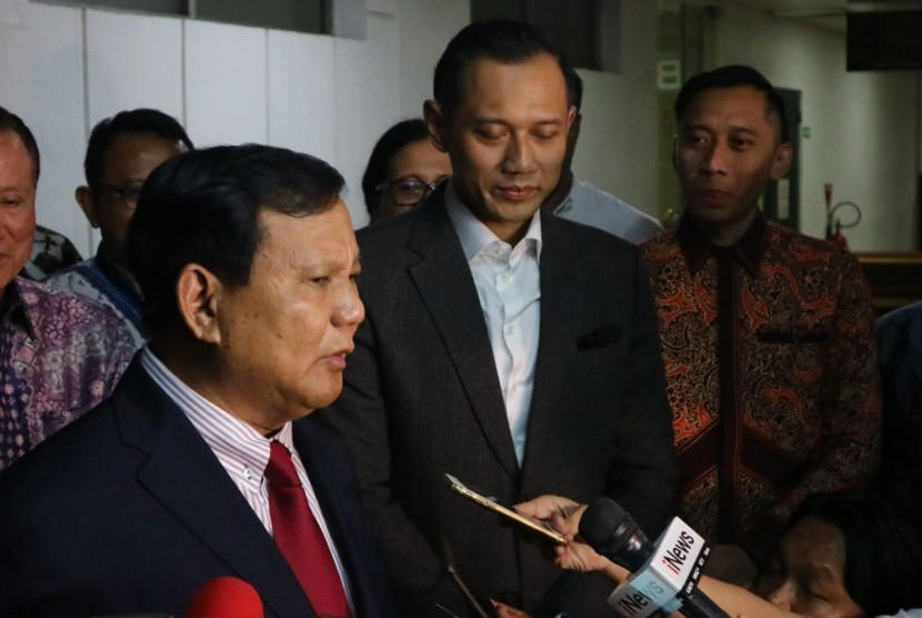 Prabowo Subianto dan Agus Harimurti Yudhoyono (AHY). (ilustrasi)