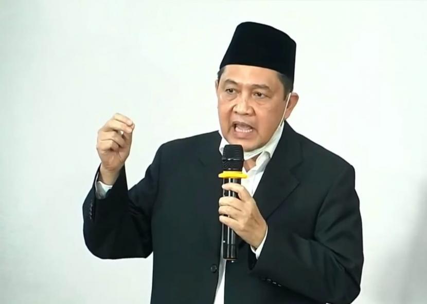 Ketua Umum Partai Masyumi, Ahmad Yani dalam keterangan pers video pengumuman kepengurusan Partai Masyumi.
