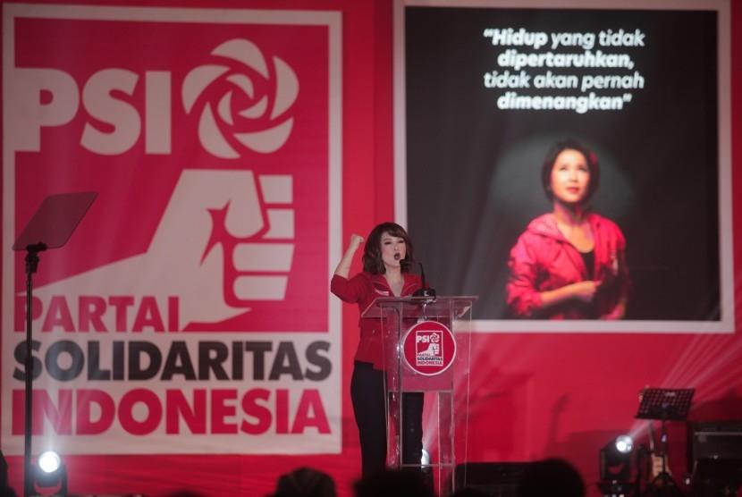 Ketua umum Partai Solidaritas Indonesia (PSI) Grace Natalie.