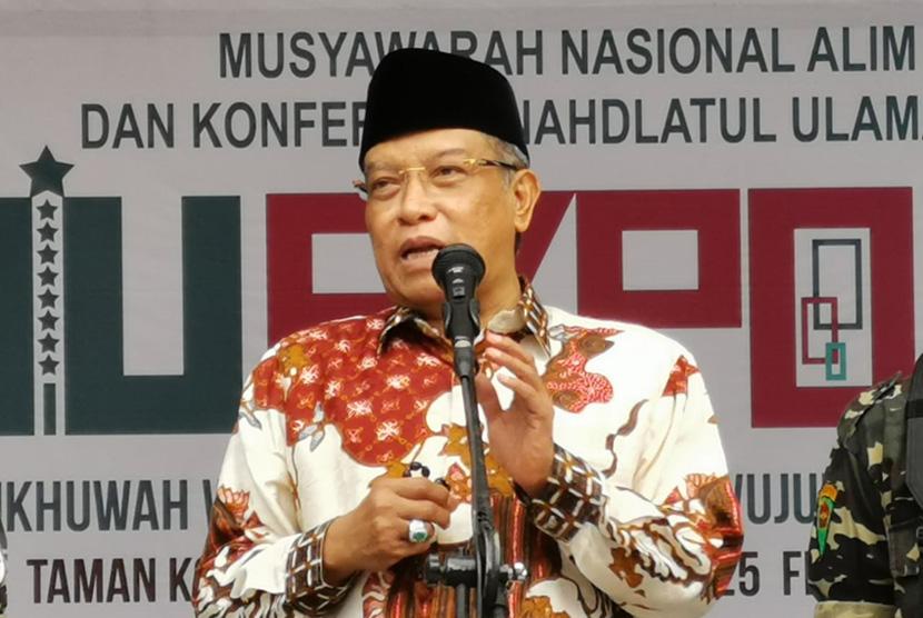 Ketua Umum PBNU KH Said Aqil Siradj saat membuka NU Expo 2019 di Banjar Jawa Barat