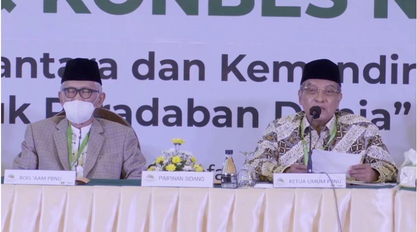 PBNU Putuskan Muktamar Digelar Desember 2021. Ketua Umum PBNU, KH Said Aqil Siroj.