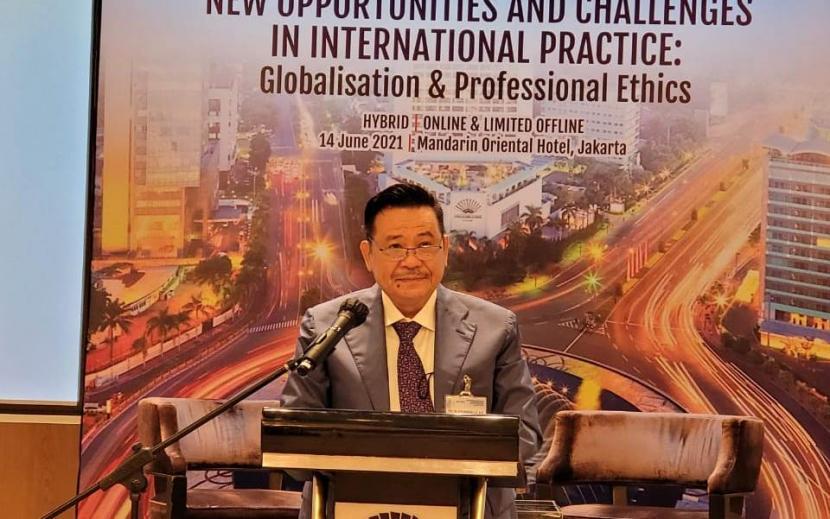 Ketua Umum Perhimpunan Advokat Indonesia (Peradi), Otto Hasibuan.