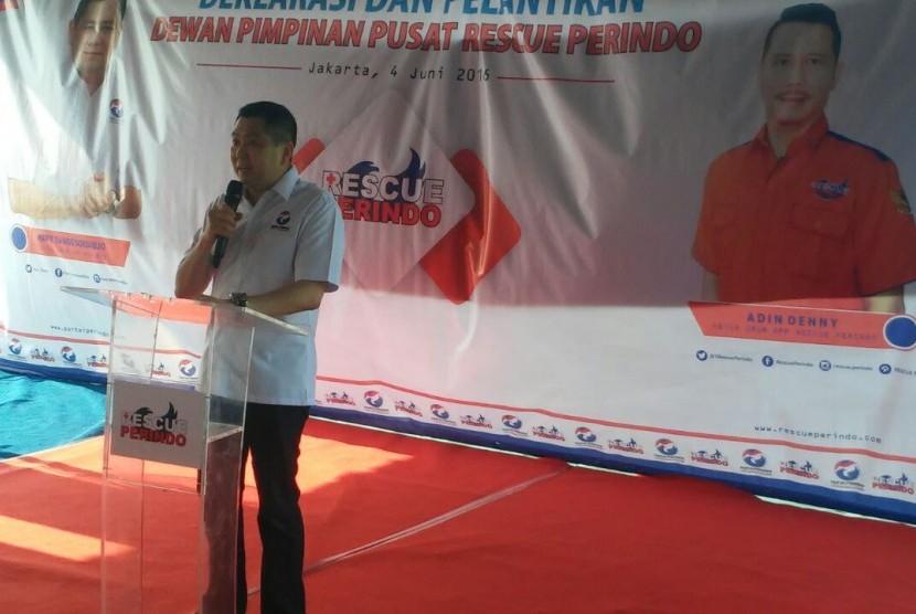 Chairman of the Indonesian Unity Party (Perindo) Hary Tanoesoedibjo