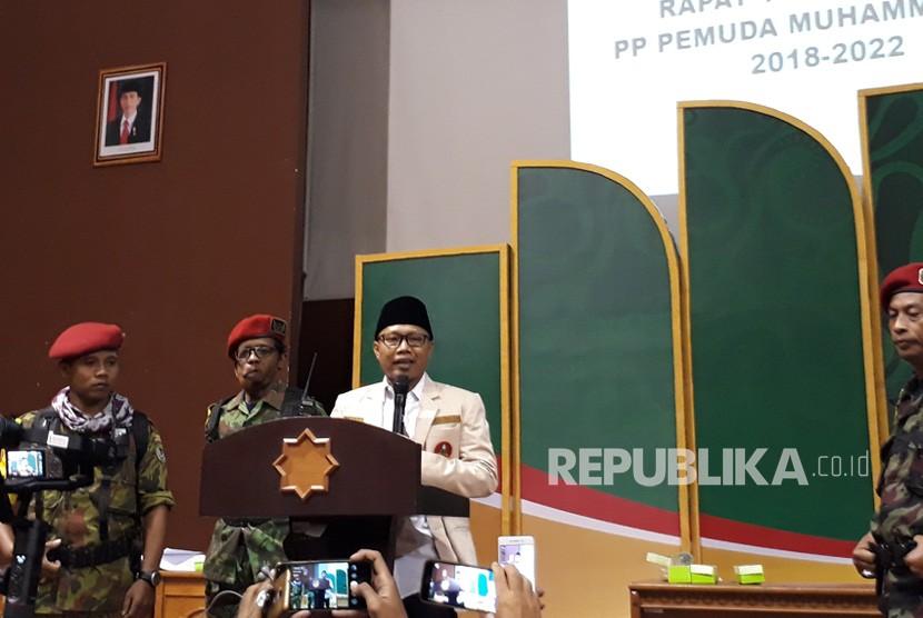 Ketua Umum PP Pemuda Muhammadiyah periode 2018-2022, Sunanto atau  akrab disapa Cak Nanto.