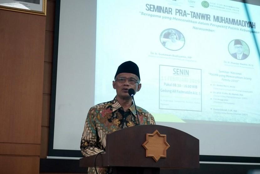 (dok. Humas UMY) Ketum PP Muhammadiyah menyampaikan ceramah dalam dalam Seminar Pra-Tanwir Muhammadiyah bertema