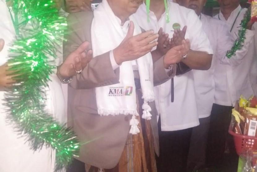 KH Ma'ruf Amin saat menghadiri acara Pelantikan Pengurus Arus Baru Indonesia (ARBI) Jawa Barat di Kecamatan Rancaekek, Kabupaten Bandung, Ahad (20/1).