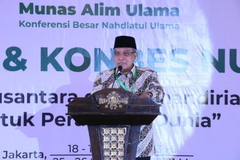 KH Said Aqil Prakarsai Muktamar NU di Akhir Desember 2021. Foto:   KH Said Aqil Siroj