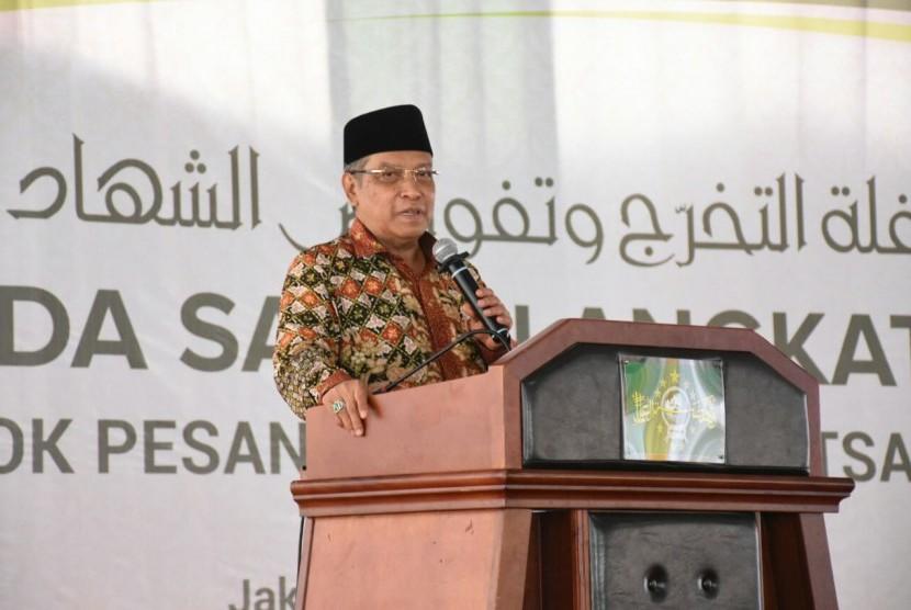Kiai Said Aqil Siroj, selaku pengasuh Pondok Pesantren Luhur Al-Tsaqafah menyampaikan bahwa santri harus menguasai segalanya.