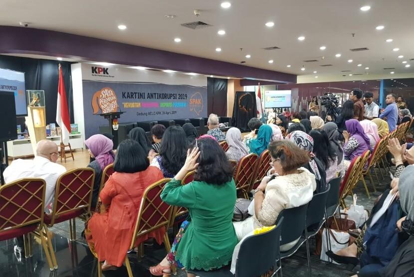 Komisi Pemberantasan Korupsi (KPK) dan Kementerian Perhubungan berpartisipasi dalam kegiatan Kartini Antikorupsi 2019 dan Gerakan Saya Perempuan Anti Korupsi (SPAK) Indonesia di Auditorium ACLC KPK Jakarta, kemarin (26/4).