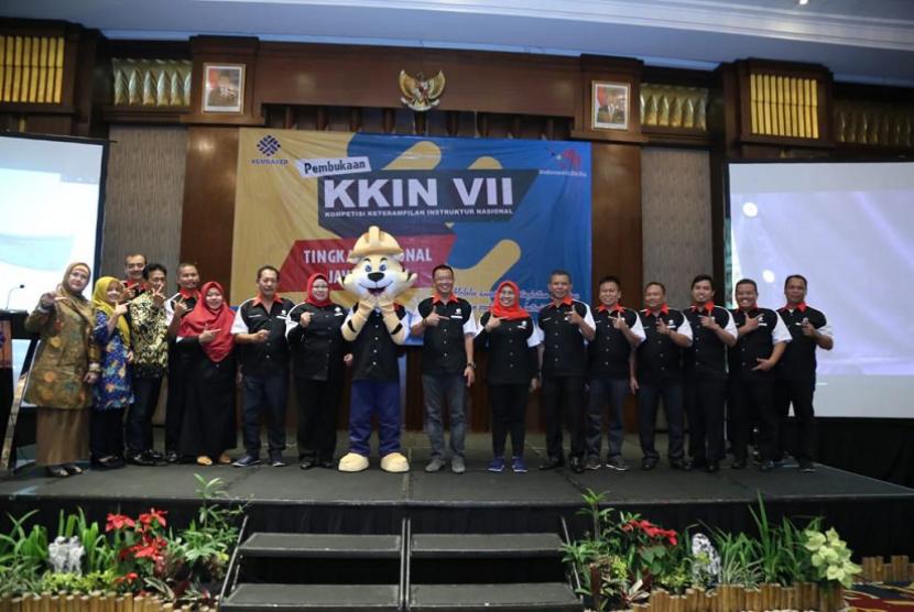 Kompetisi Keterampilan Instruktur Nasional (KKIN) VII Tahun 2019 tingkat Regional Jawa Barat di Bandung, Ahad  (21/7).