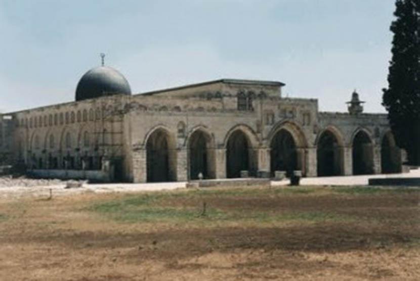 Komplek Masjid Al-Aqsha di Baitul Maqdis, Palestina.