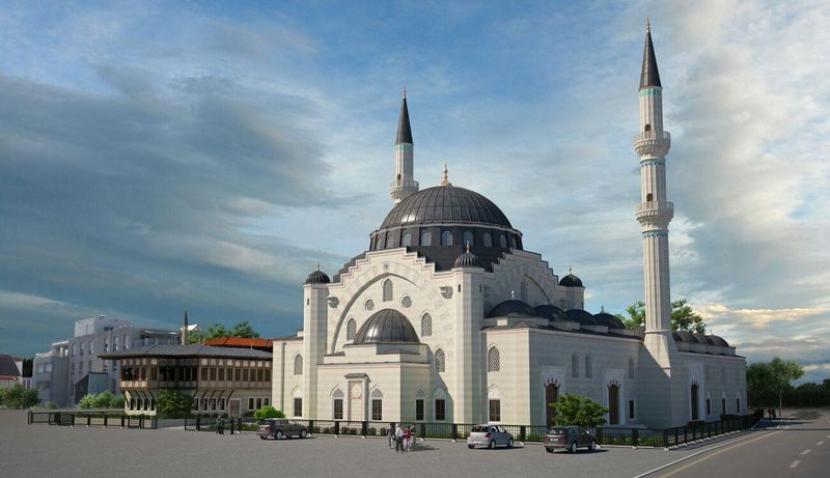 Prancis Luncurkan Pertunjukan Seni Islami di 18 kota. Foto: Kompleks masjid Eyyub Sultan di Strasbourg, Prancis.