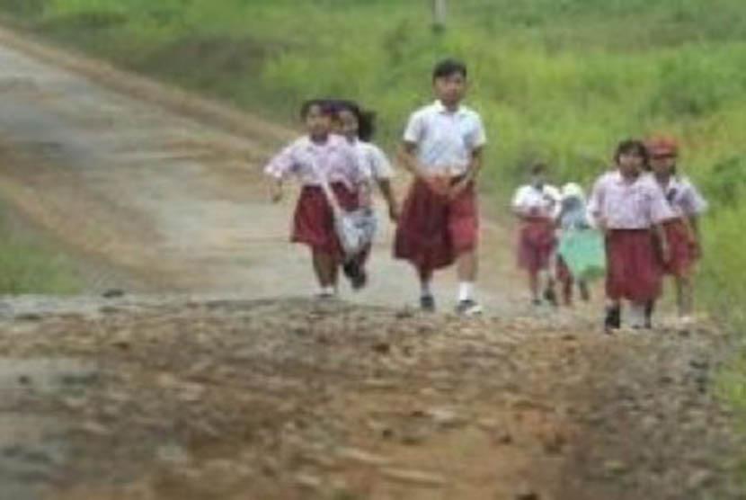 Kondisi anak-anak sekolah di pedalaman dan perbatasan (ilustrasi)