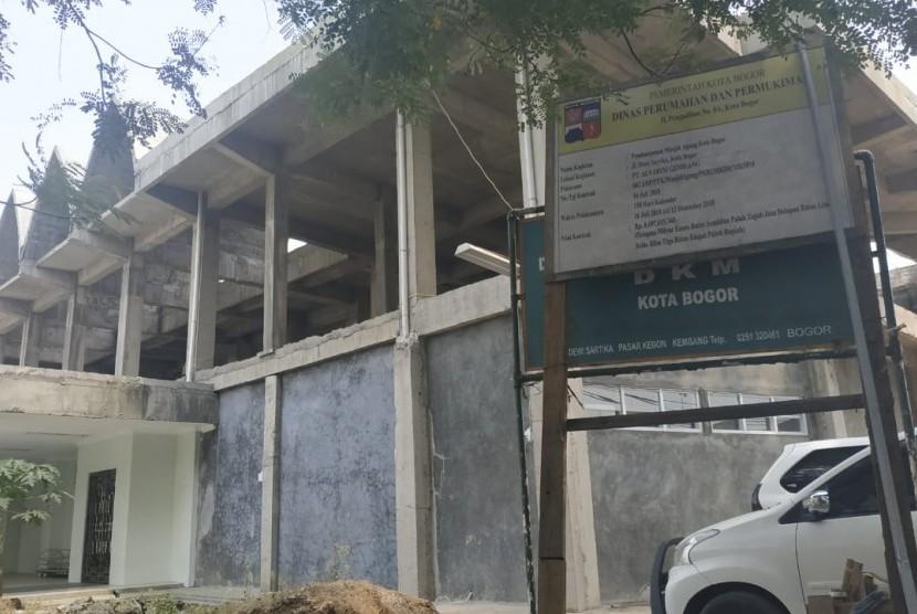 Kondisi bangunan Masjid Agung Kota Bogor.
