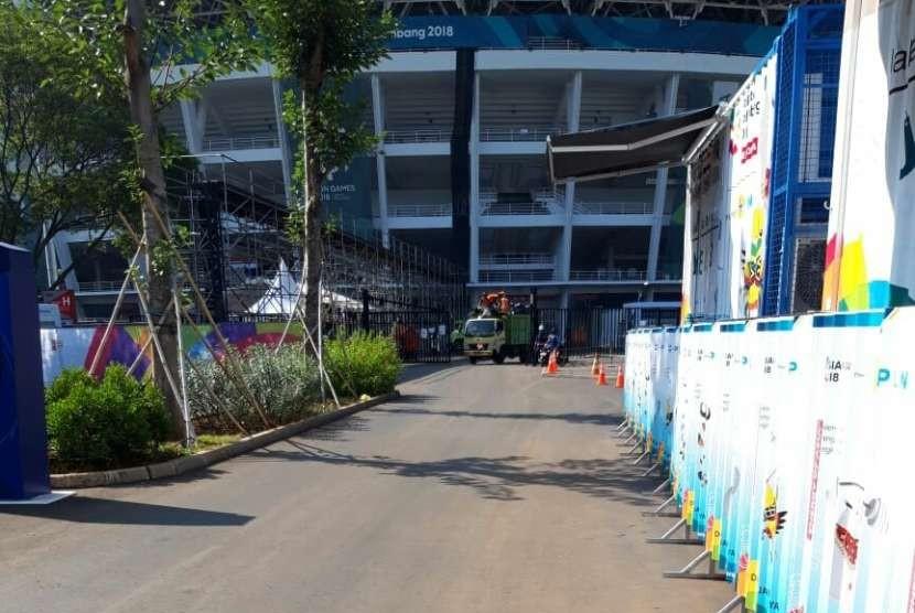 Kondisi dalam dan luar GBK pasca penutupan Asian Games, Senin (3/9)