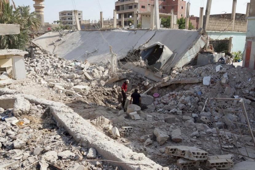 Kondisi Kota Daraa di selatan Suriah