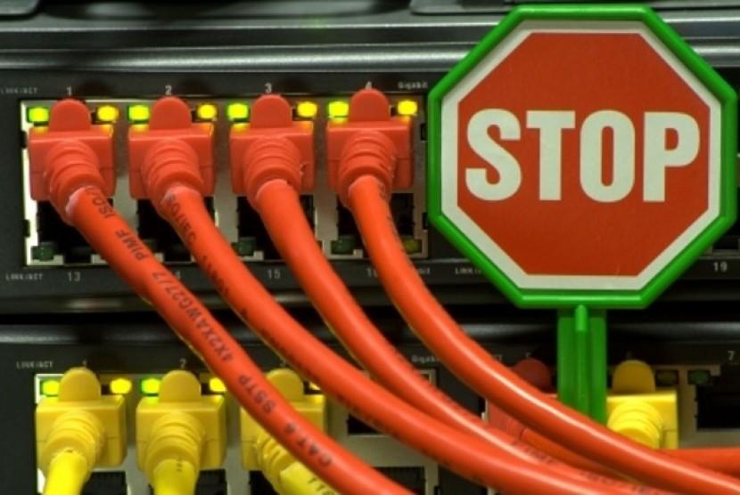 Koneksi Internet Terputus (ilustrasi)
