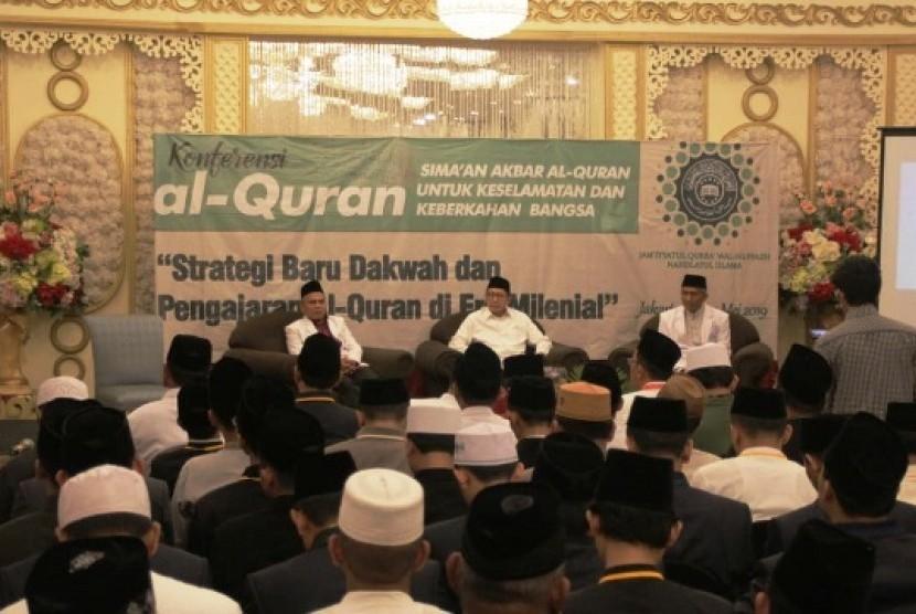 Konferensi Alquran JQH NU, di Hotel Sriwijaya Jakarta, Senin (20/5).