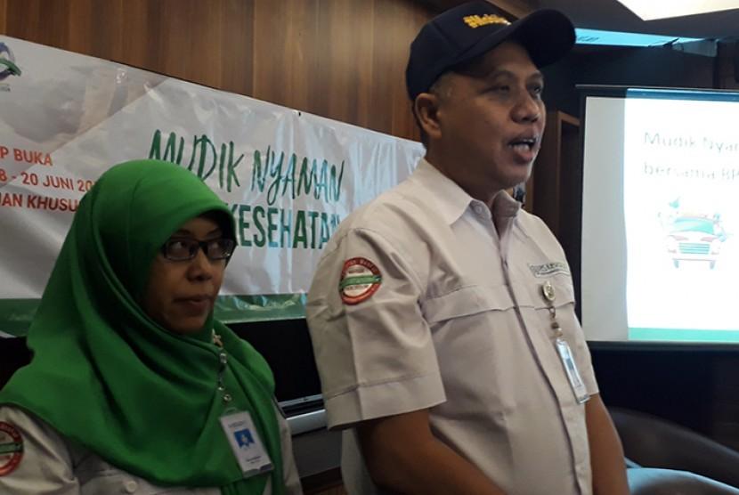 Konferensi pers dengan tema Mudik Nyaman Bersama BPJS Kesehatan.