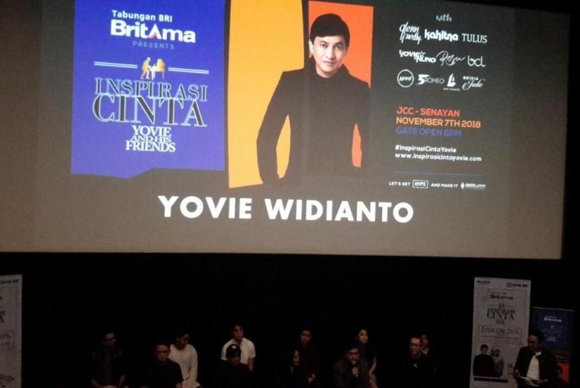 Konferensi Pers Konser Inspirasi Cinta Yovie Widianto and His Friends di Pacific Place, Jakarta, Senin (15/10).