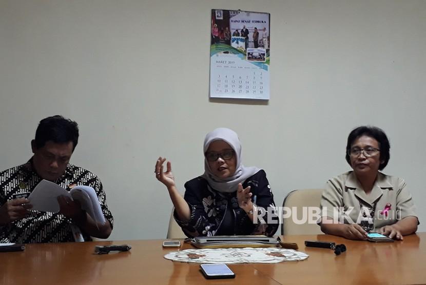 Konferensi pers peluncuran program Zero Tuberculosis di Pusat  Kedokteran FKKMK Universitas Gadjah Mada (UGM), Selasa (12/3).