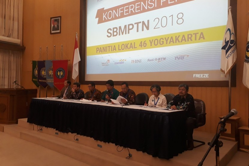 Konferensi pers SBMPTN Panlok 46 Yogyakarta di UNY.