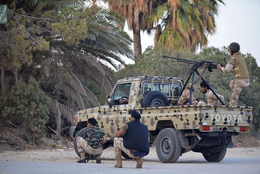 Konflik antar-kelompok bersenjata marak terjadi di Libya. (ilustrasi)