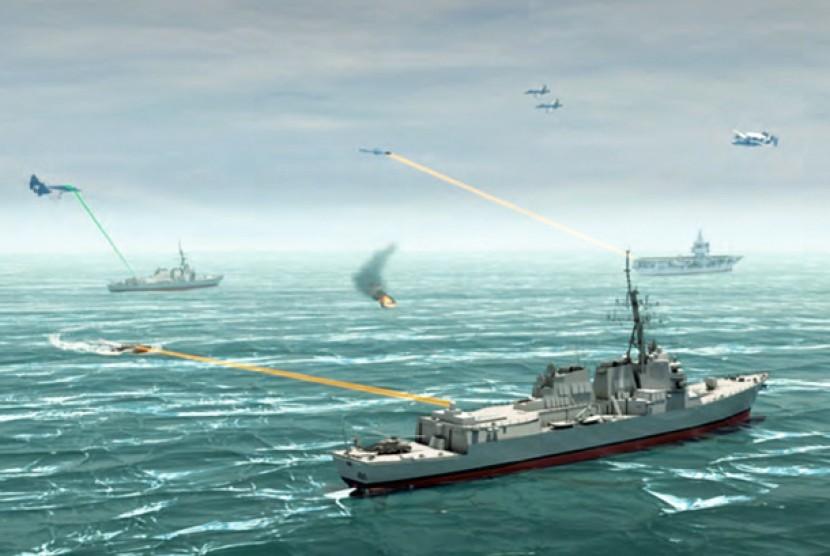 Konsep senjata DE teknologi laser militer AS