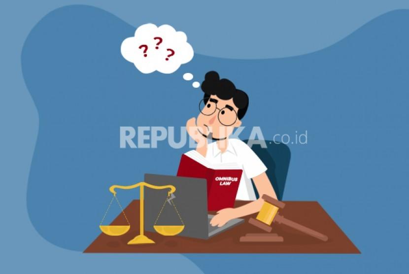 Kontroversi omnibus law (Ilustrasi)