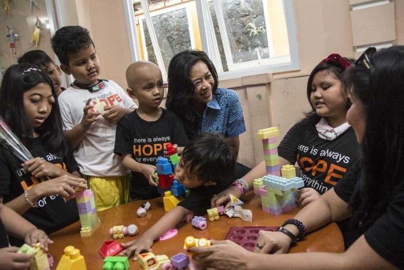 Anak-anak penderita kanker (ilustrasi)