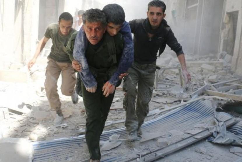 Korban konflik kekerasan di Suriah