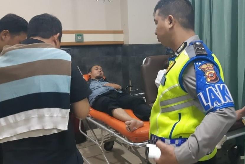 Korban selamat laka lantas di ruas Tol Cipali KM 78 jalur A, yang saat ini masih dirawat di RSU MH Thamrin Purwakarta, Senin (4/3).