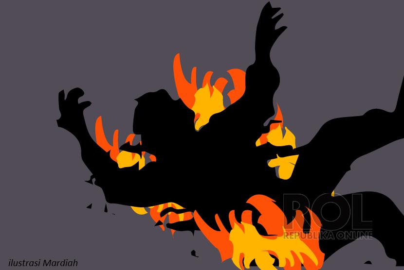 Korban Terbakar (ilustrasi)