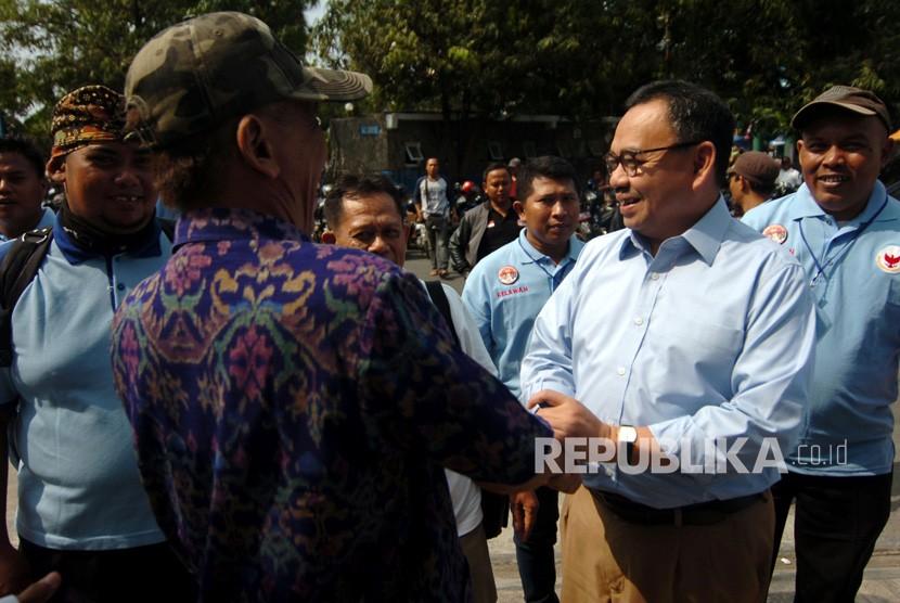 Direktur Materi dan Debat Badan Pemenangan Nasional (BPN) Prabowo-Sandi, Sudirman Said (kanan).