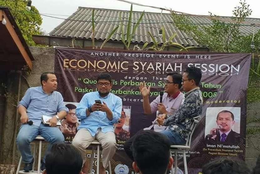 Korps Alumni Forum Shilaturrahim Studi Ekonomi Islam (KAFoSSEI) menggelar takk show ekonomi syariah.