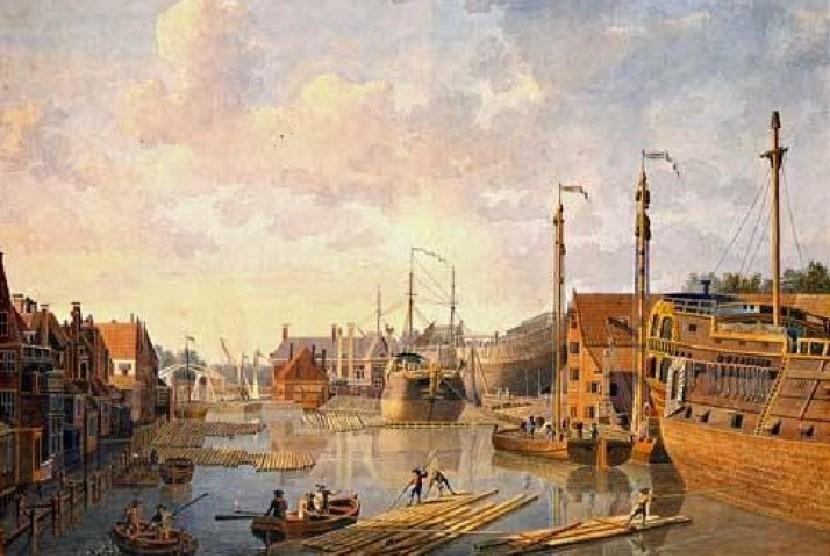 Kota Batavia di masa lalu saat VOC mempunyai kantor perwakilan