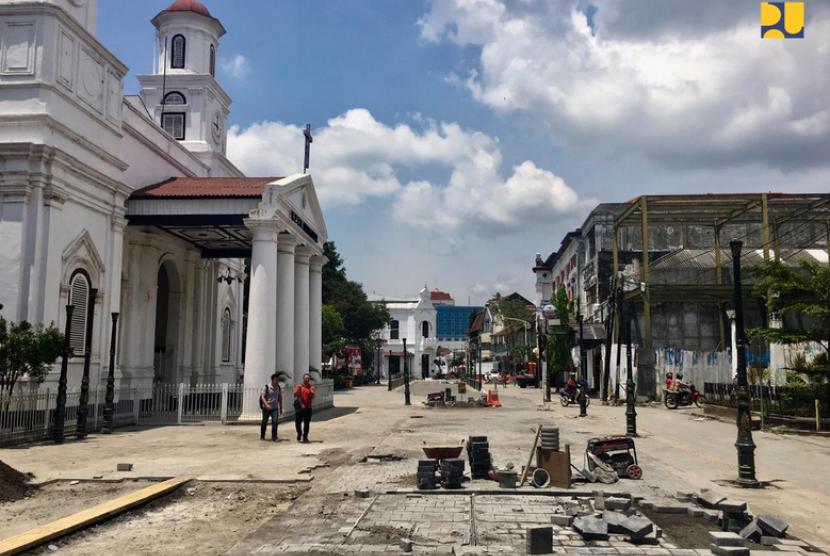 Kota Lama Semarang. Penataan Kawasan Kota Lama Semarang ditargetkan rampung akhir April 2019.